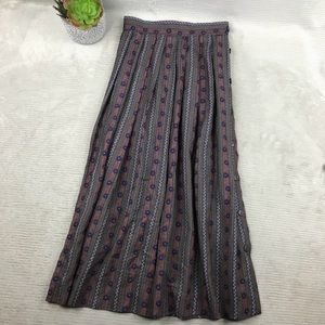 Vintage Doncaster Pleated Long Skirt